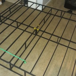 King all metal one piece bed frame